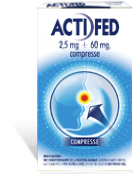 ACTIFED 12 COMPRESSE 2,5MG + 60MG